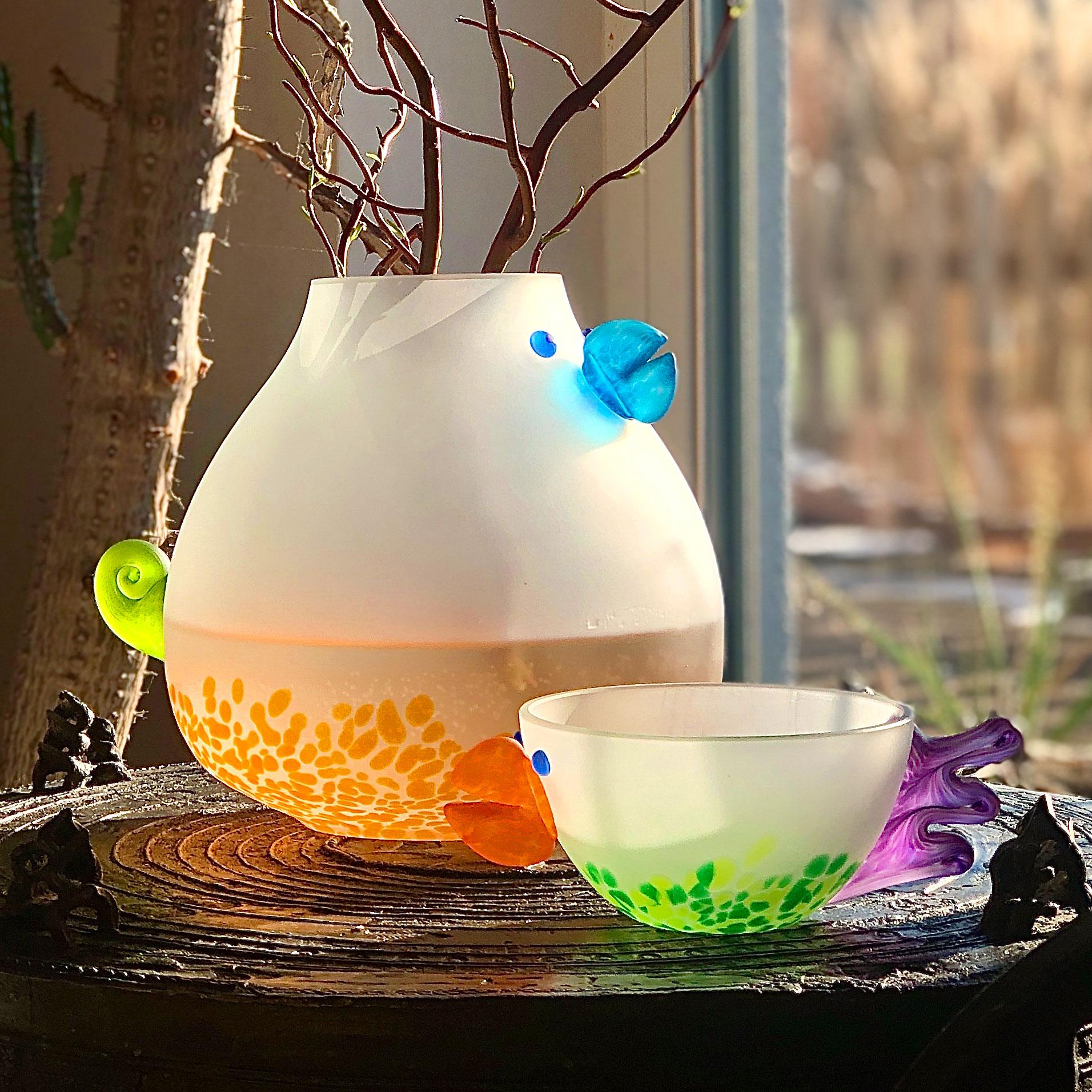 CHICKA - Vase | blauer Schnabel