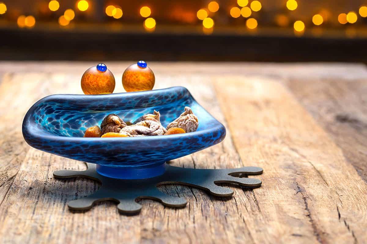 HOPPER - Borowski Schale blau | Borowski Glaskunst