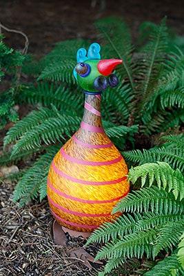 TURKEY Lichtobjekt Glasskulptur Garten Huhn