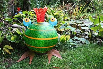 FROGGY grün - Lichtobjekt Frosch aus der Borowski OUTDOOR OBJECTS Kollektion