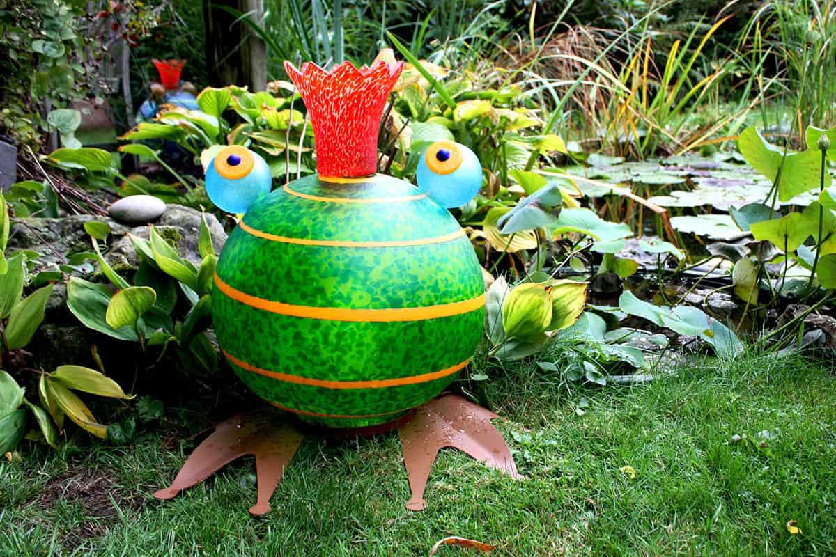 FROGGY grün - Lichtobjekt Frosch aus der Borowski OUTDOOR OBJECTS Kollektion | Borowski Glaskunst